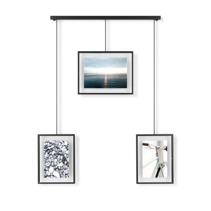 Le cadre photo Exhibit de Umbra dans un ensemble de 3, noir