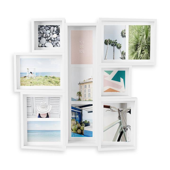 Edge Le cadre multi-images (mur) de Umbra en blanc