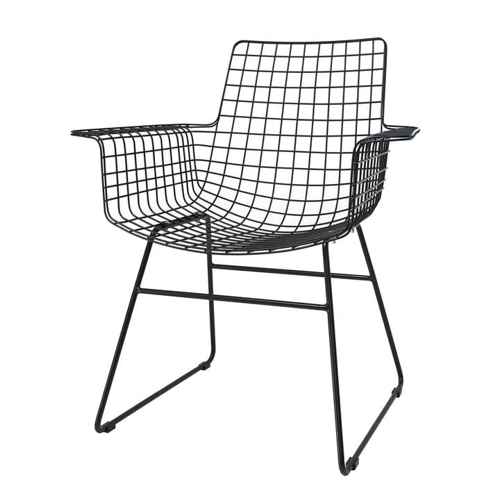 Wire Arm Chair , noir de HKliving