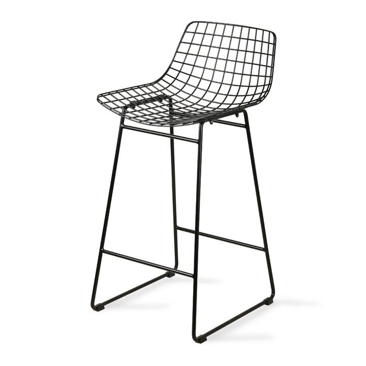 Wire Chaise de bar, noire par HKliving