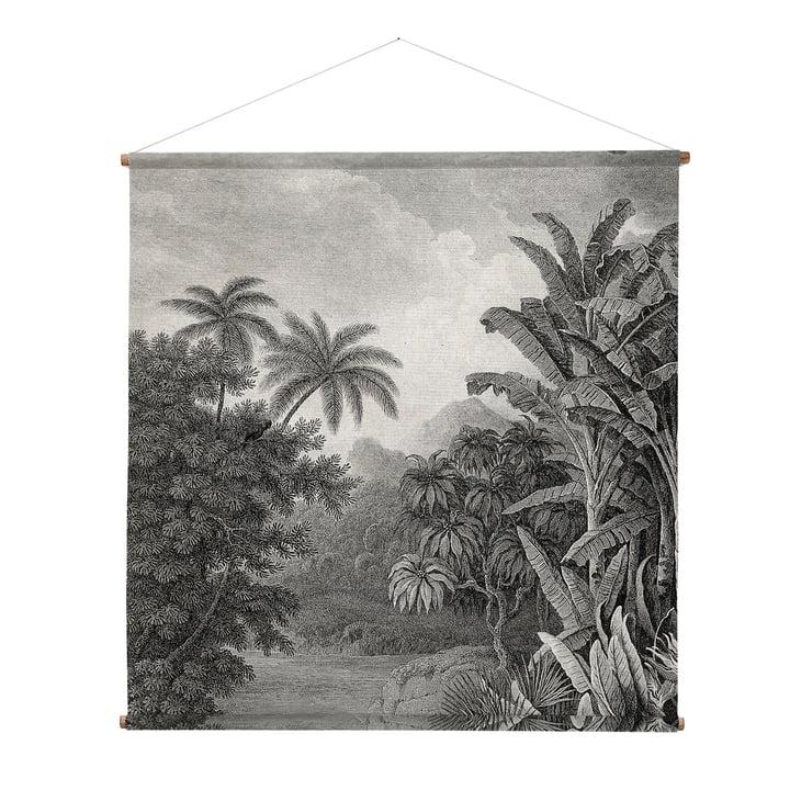 XXL Jungle Photo murale, 154 x 154 cm, noir / blanc de HKliving
