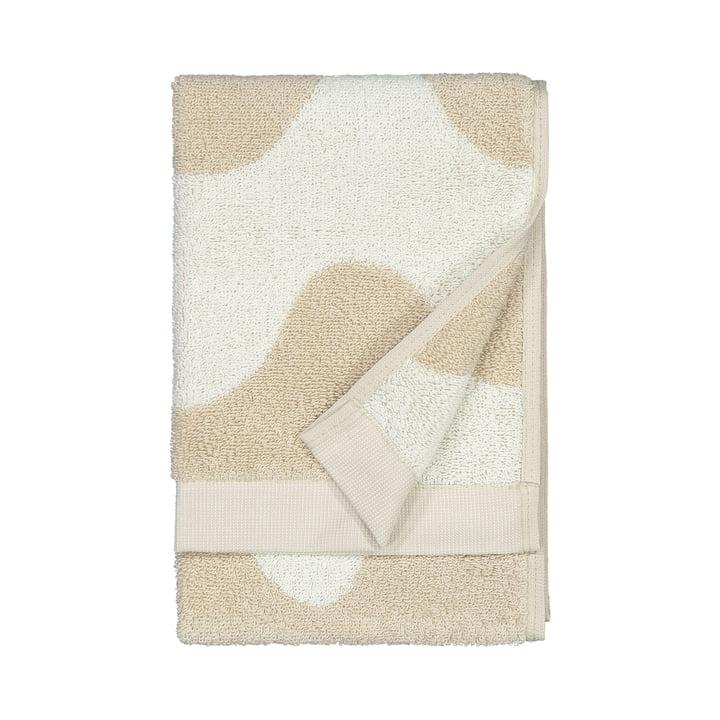 La serviette d'invité Lokki de Marimekko en beige / blanc