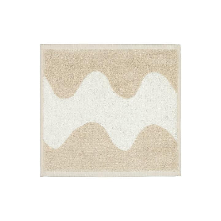 La mini-serviette Lokki de Marimekko en beige / blanc