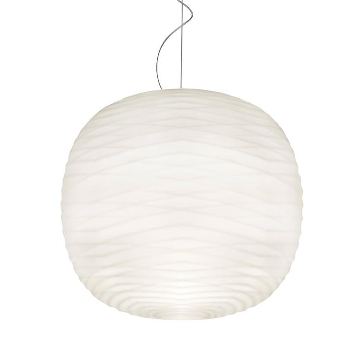 Suspension lumineuseGem E27 par Foscarini en blanc