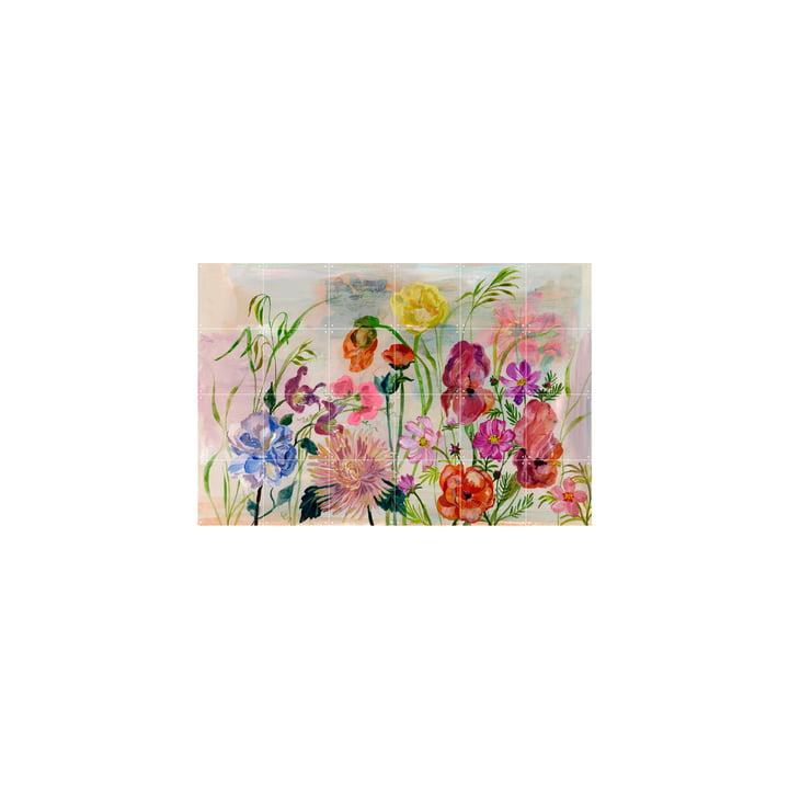La fresque de Flowers Garden tirée de IXXI , 120 x 80 cm