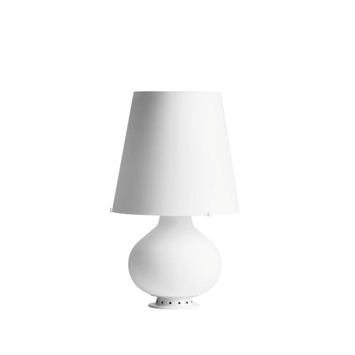 La lampe de table Fontana de FontanaArte en blanc
