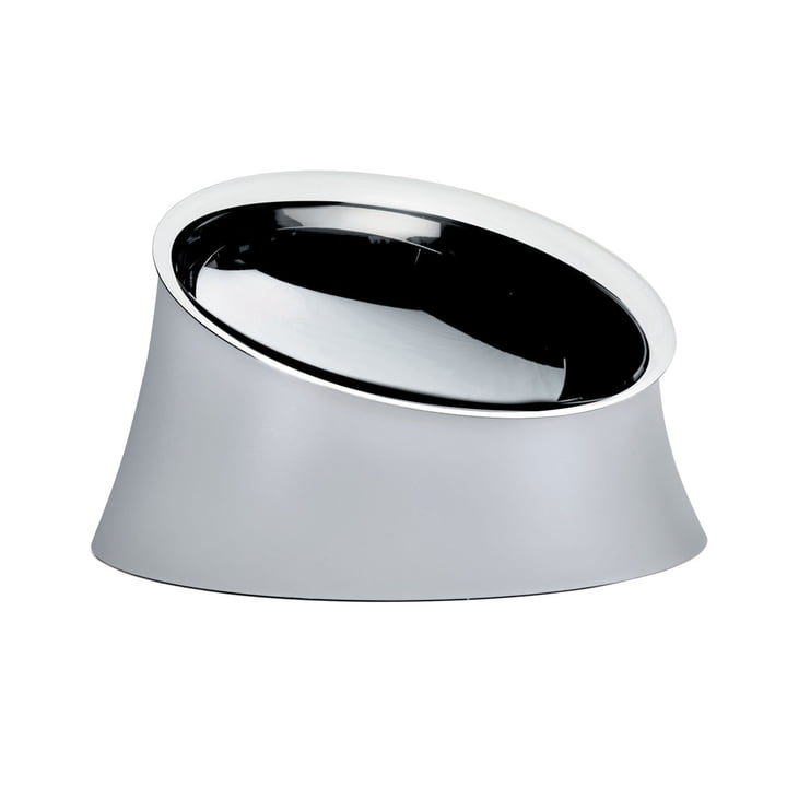 La gamelle du chien Wowl de Alessi en petit, warm grey