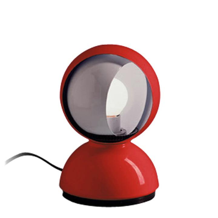 Lampe de table Artemide Eclisse, rouge