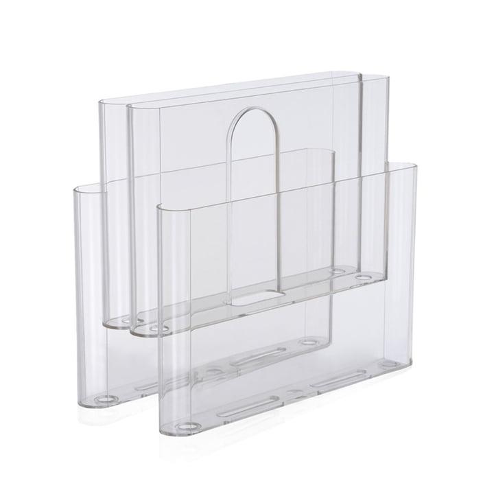 Porte-revues à quatre poches de Kartell en transparent