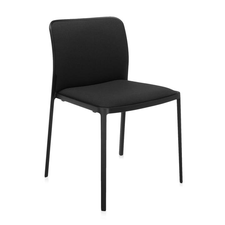 Audrey Soft Chaise de Kartell en noir / noir