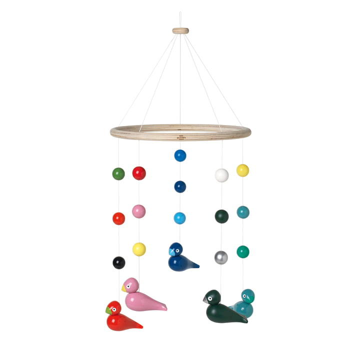Songbirds Mobile Ø 23,5 cm, multi de Kay Bojesen