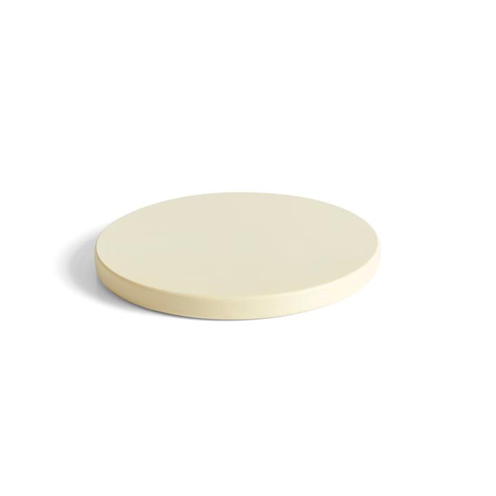 Planche à découper ronde L, blanc cassé de Hay