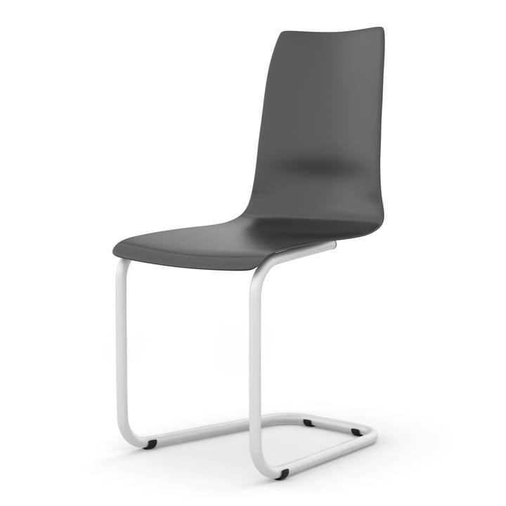 Chaise cantilever de Tojo en noir