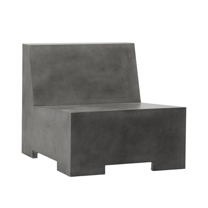 La chaise longue en béton Loun de House Doctor en gris