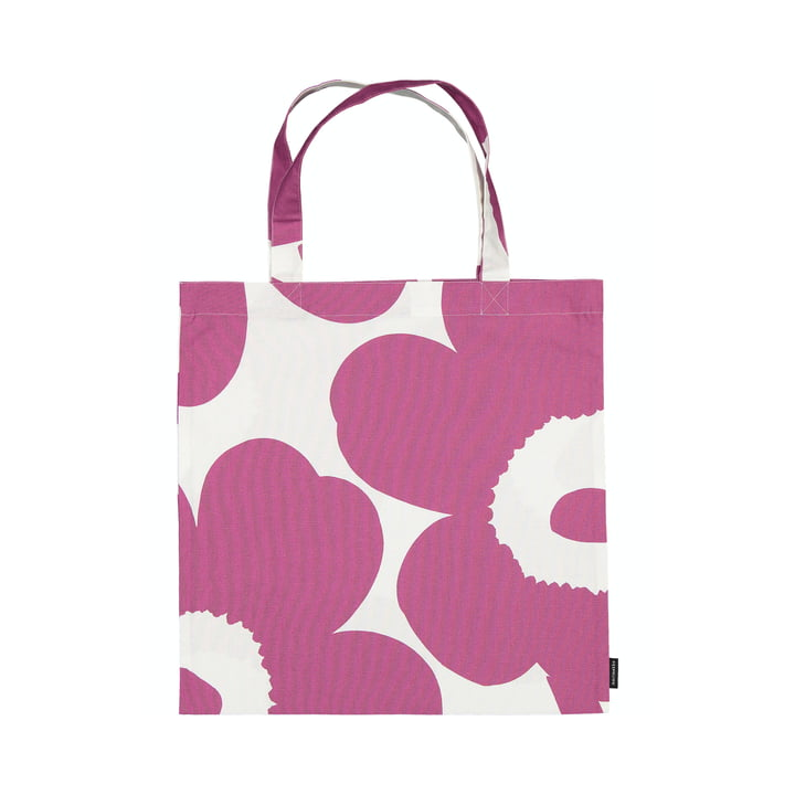 Le sac à provisions Unikko de Marimekko en rose / blanc