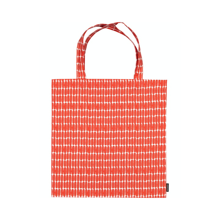 Le sac à provisions Alku de Marimekko, blanc / rouge