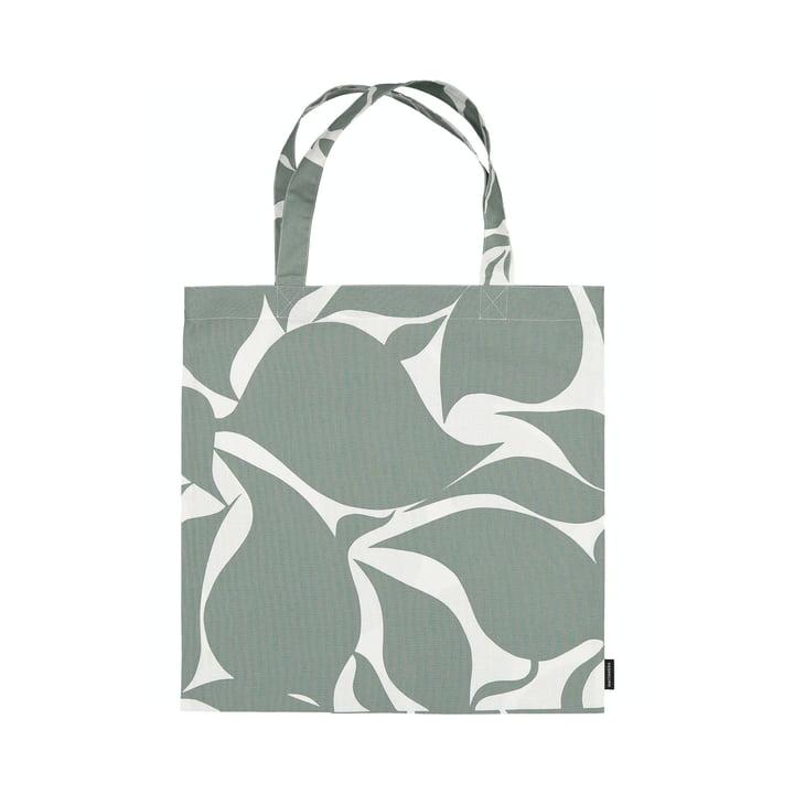 Le sac de shopping Ruudut de Marimekko en vert / blanc