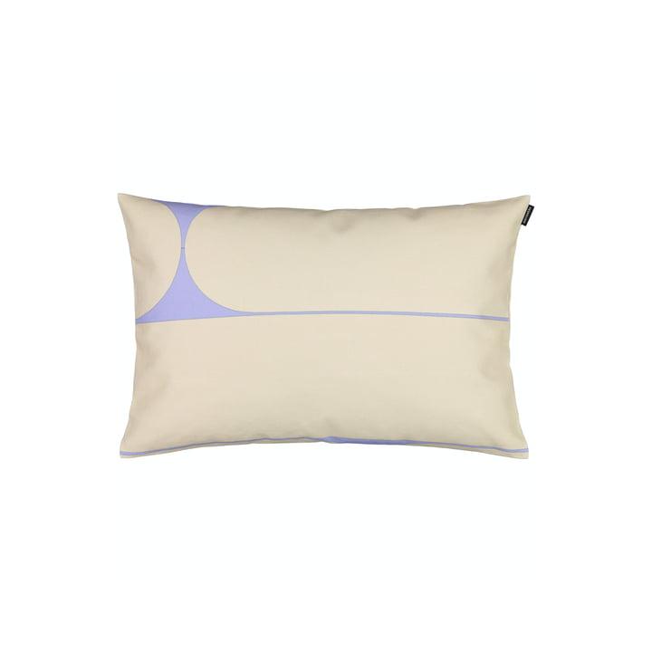 La taie d'oreiller Putki de Marimekko, 40 x 60 cm, beige / bleu