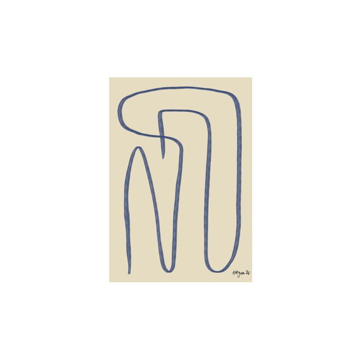 Different Ways Poster 30 x 40 cm, bleu de Paper Collective
