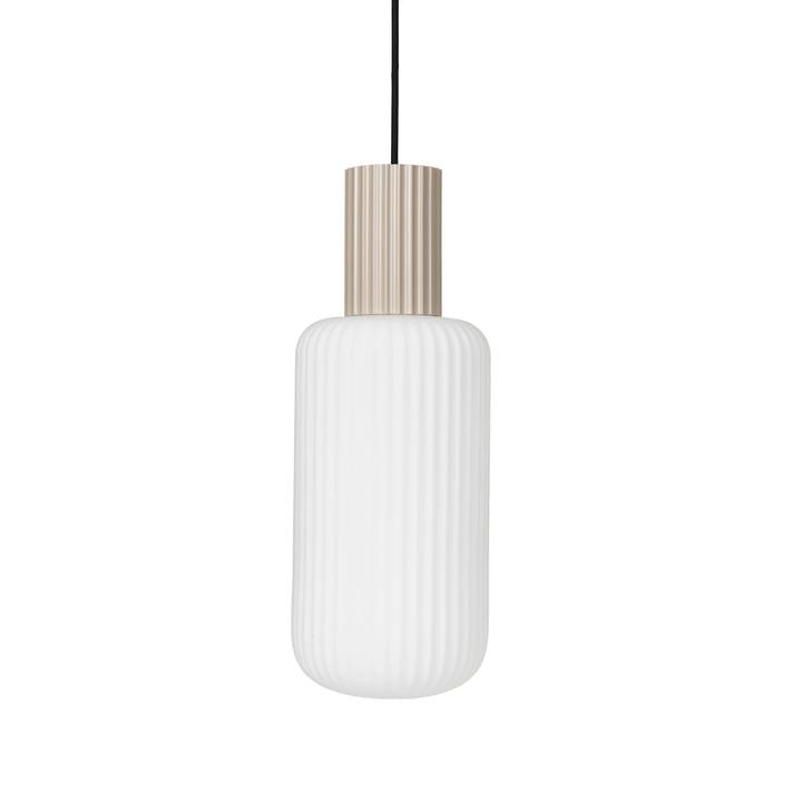Lolly La lampe à suspension de Broste Copenhagen en sable / blanc, Ø 16 cm