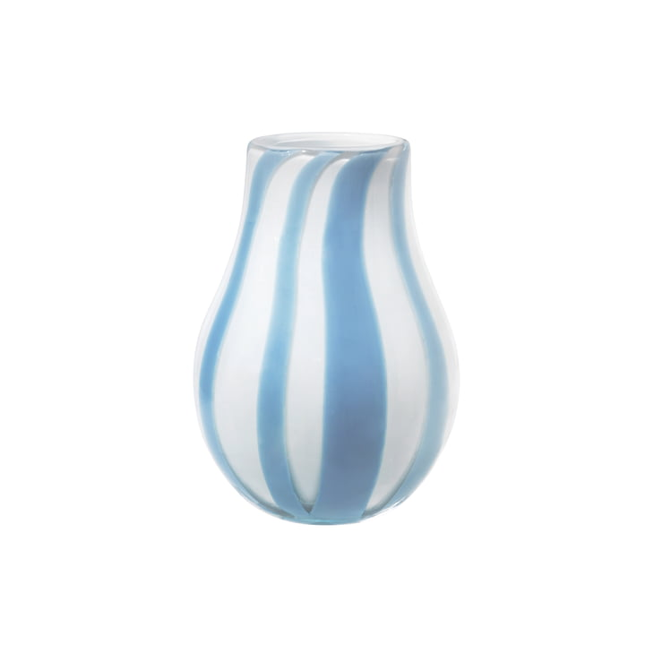 Le vase Ada Stripe de Broste Copenhagen en bleu clair