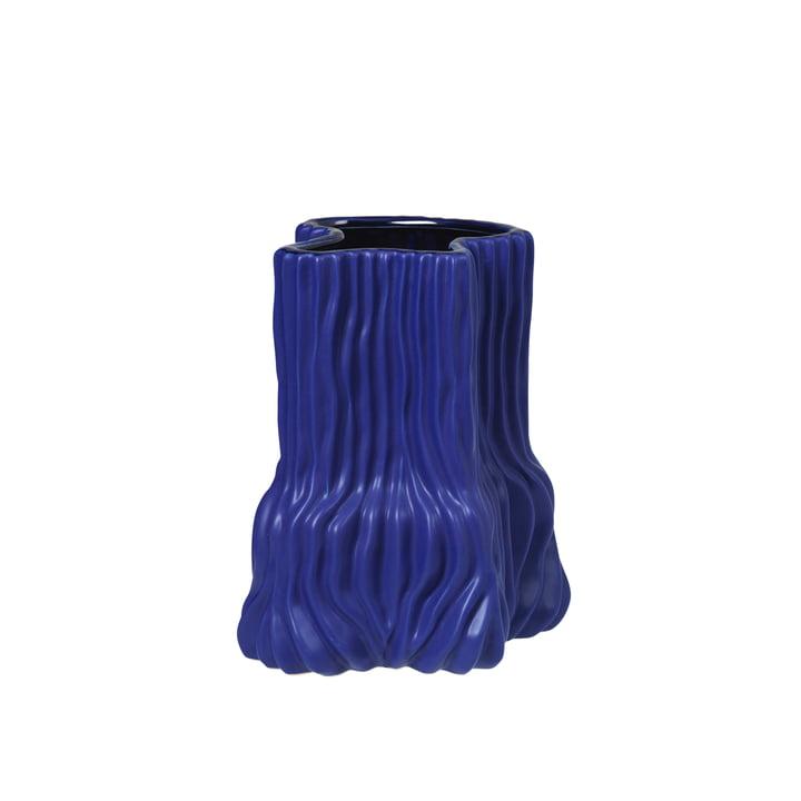 Le vase Magny de Broste Copenhagen en bleu foncé, h 23,5 cm