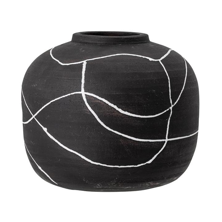 Niza Vase, H 16,5 cm de Bloomingville en noir
