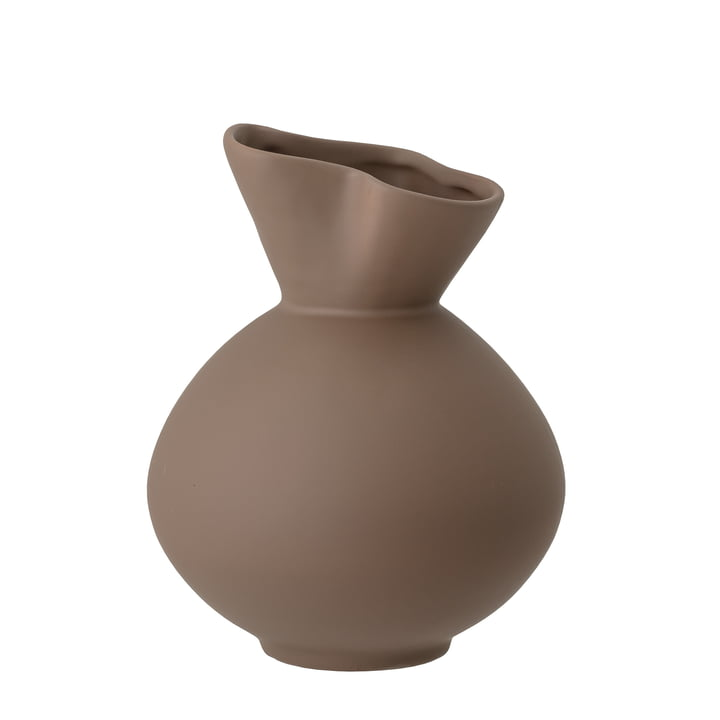Le vase Nica de Bloomingville en brun, h 20 cm,