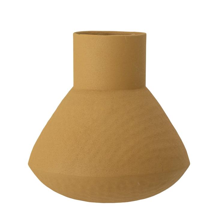 Le vase Isira de Bloomingville en jaune, H 20,5 cm