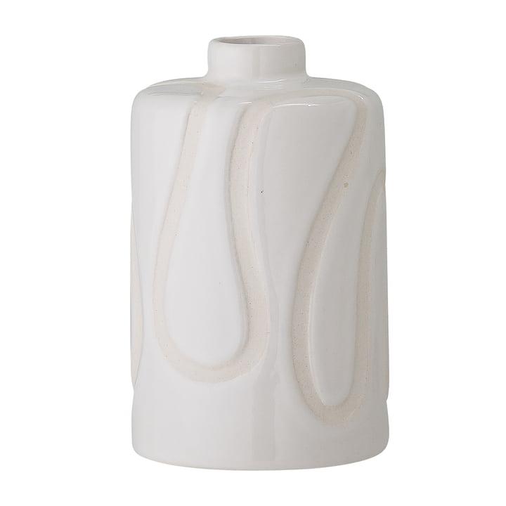 Le vase Elice de Bloomingville en blanc, h 13 cm