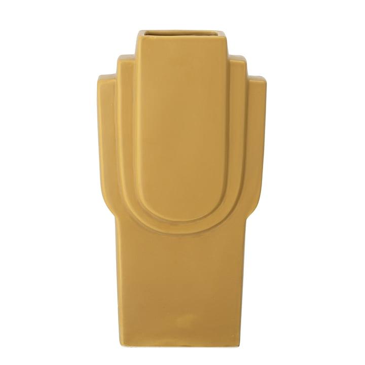 Le vase Ata de Bloomingville en jaune, h 30,5 cm