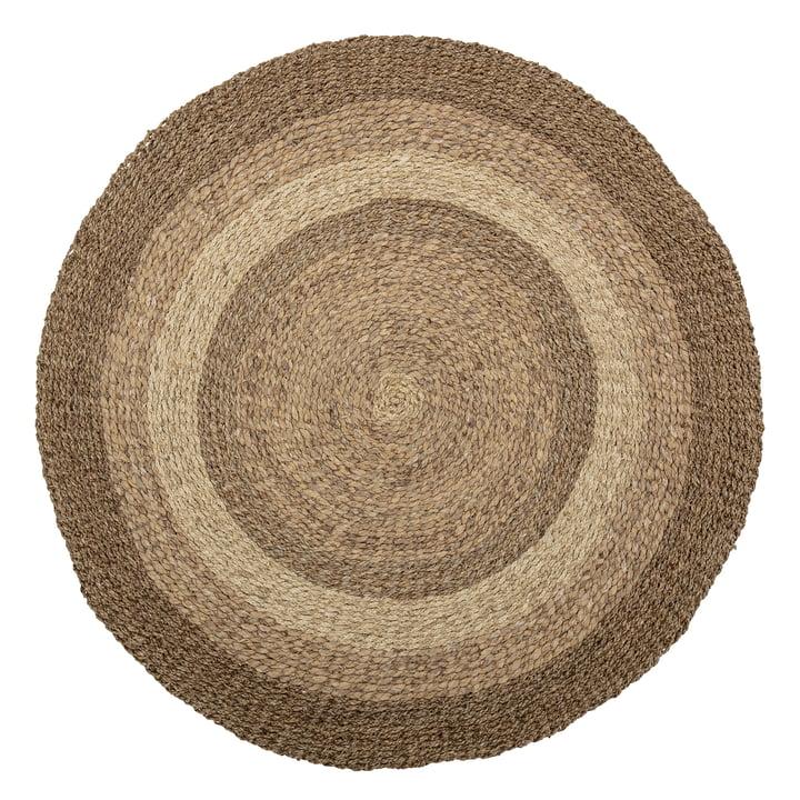 Le tapis Malic de Bloomingville , Ø 150 cm, herbe de mer naturelle