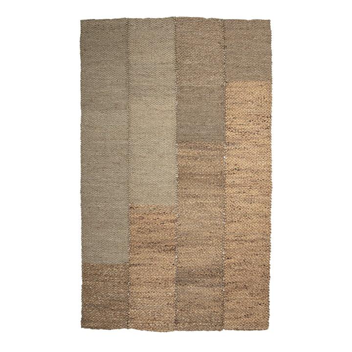 Le tapis Enzov de Bloomingville , 245 x 150 cm, herbe de mer naturelle