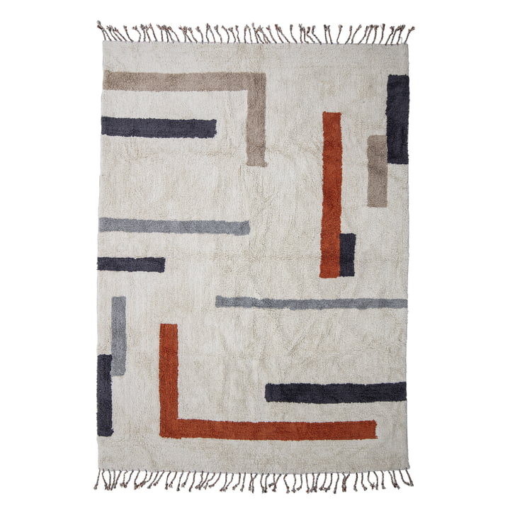Le tapis Jue de Bloomingville , 200 x 140 cm, nature