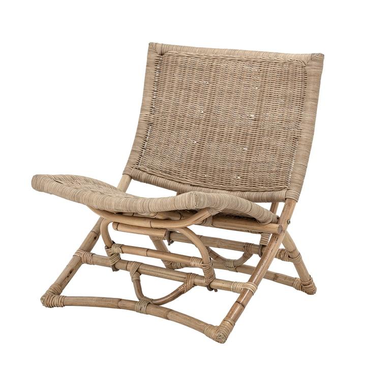 Baz Lounge Chair de Bloomingville dans la nature du rotin
