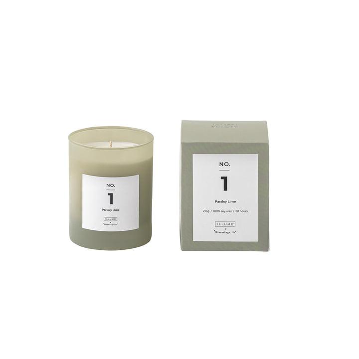 Bloomingville - ILLUME Bougie parfumée n°1, Parsley Lime
