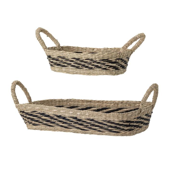 Ensemble de paniers à herbe de mer rectangulaires de Bloomingville en brun (ensemble de 2)