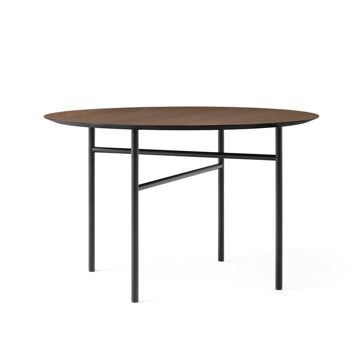 Snaregade Table, Ø 120 cm, placage de chêne teinté noir (foncé) de Menu