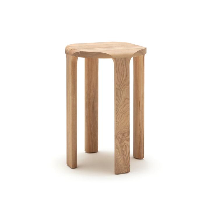 La table basse 193-500 de freistil en frêne naturel, h 58 x Ø 40 cm