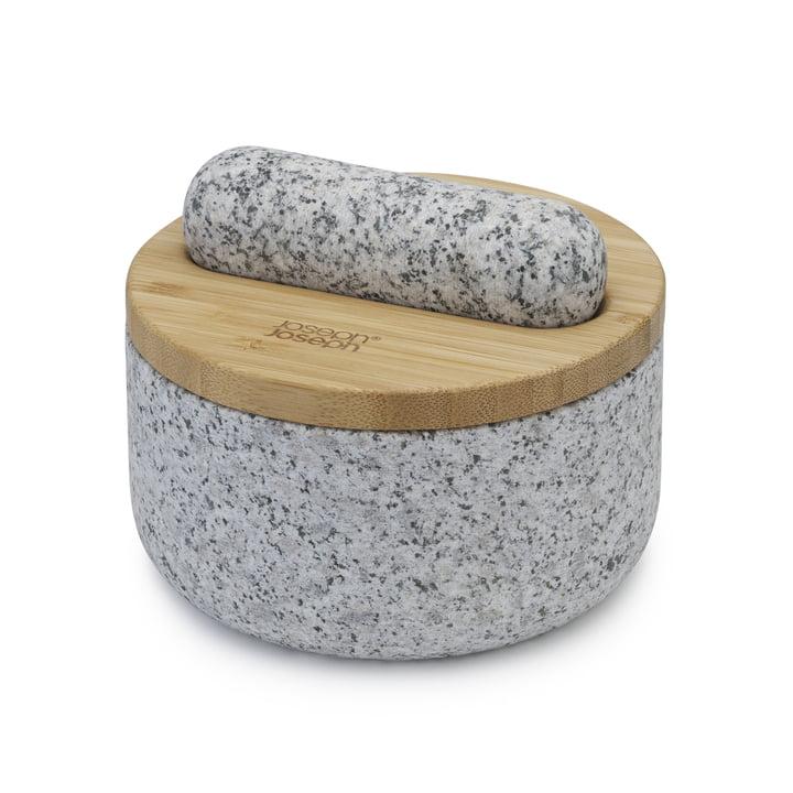 Le mortier et le pilon Dash de Joseph Joseph en granit / bambou