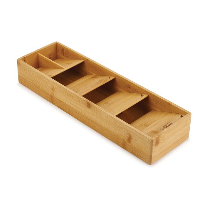 L'organisateur de coutellerie DrawerStore Bamboo de Joseph Joseph sous forme compacte