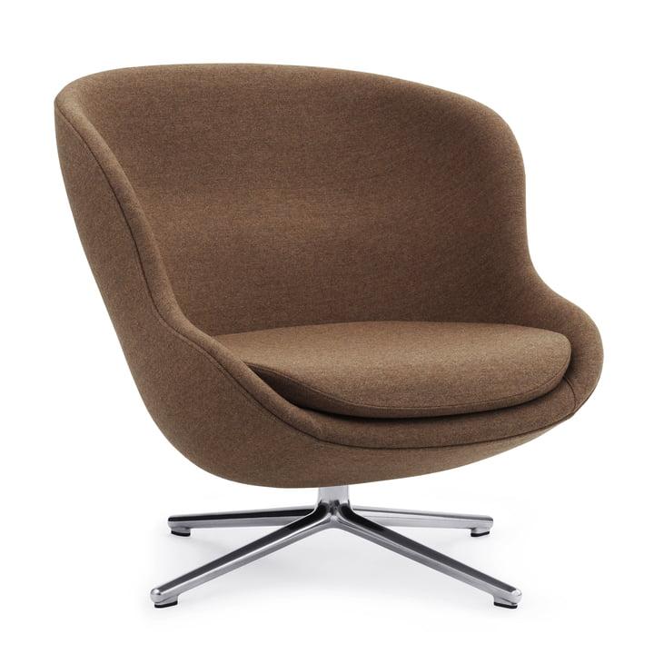 La chaise longue Hyg avec base pivotante de Normann Copenhagen , Aluminium / Synergy