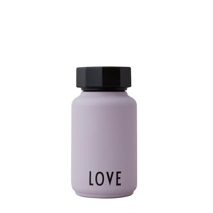 La bouteille thermos AJ Hot & Cold de Design Letters , Love / lavande (édition spéciale)