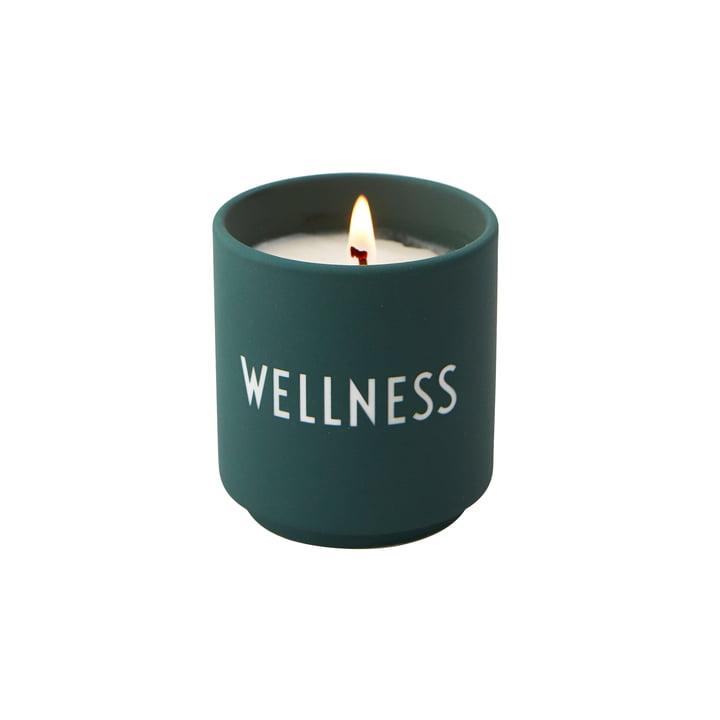 La petite bougie parfumée de Design Letters , Wellness / vert foncé