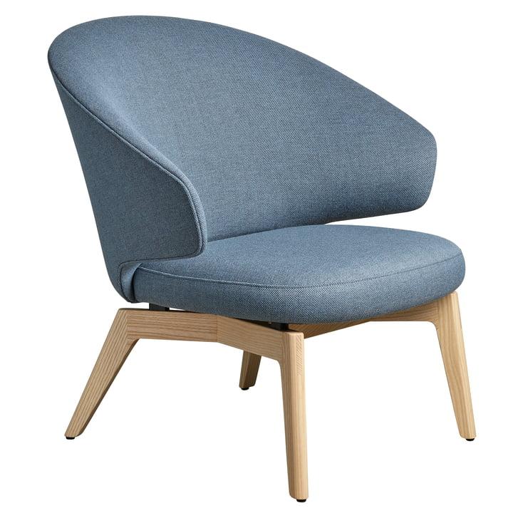 Let Chaise longue cadre en bois de Fritz Hansen en bleu clair / frêne