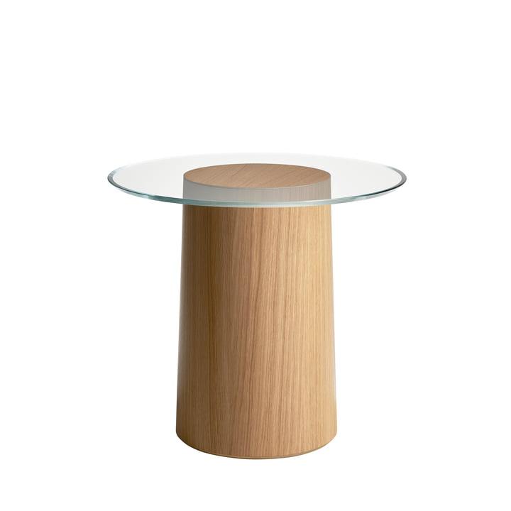 Stub Table d'appoint H 44,5 Ø 49 cm de Fritz Hansen en chêne