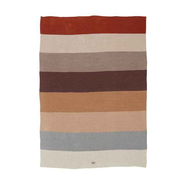 La couverture de laine Iris de OYOY , 134 x 184 cm, colorée