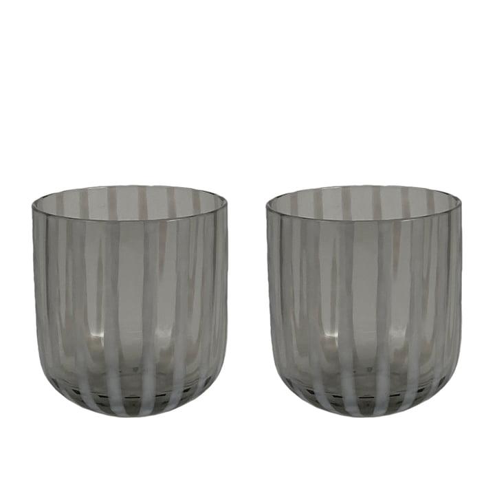 Le verre à boire Mizu de OYOY , gris (ensemble de 2)