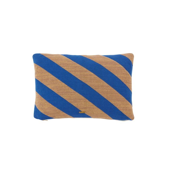 Le coussin Takara de OYOY , 35 x 50 cm, bleu optique / chameau