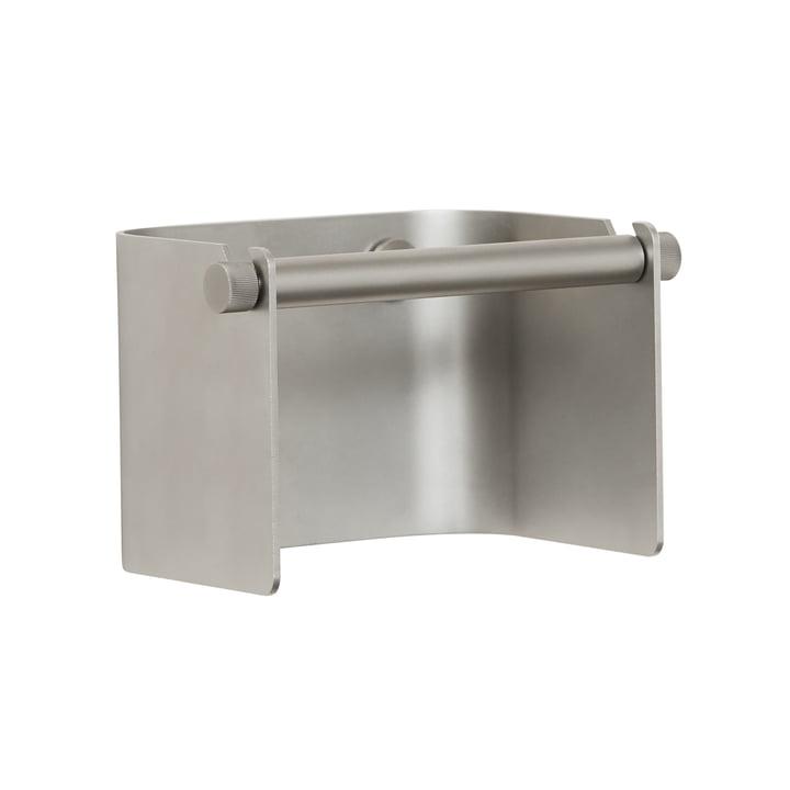 Arc Porte-papier hygiénique, chrome mat de Form & Refine
